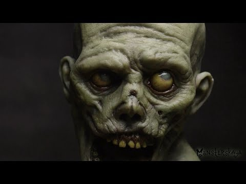 How to make a Zombie bust\Tutorial\Painting Veins Part1