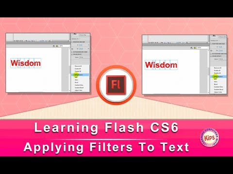 Learning Flash CS6: Applying Filters To Text