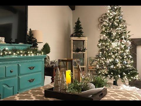 Winter Wonderland Christmas Tree || Mini Living Room Tour|| Day 5 Christmas 2017