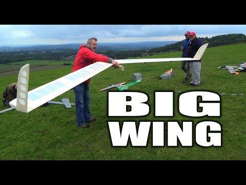 flying wing glider maiden