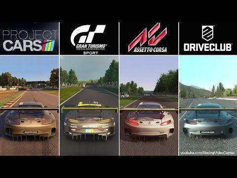 Gran Turismo Sport Beta vs. Project CARS vs. DriveClub vs. Assetto Corsa   Graphics Comparison PS4
