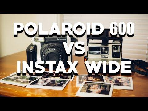 POLAROID 600 vs FUJI INSTAX WIDE 300 - A Comparison of Two Instant Film Camera Systems