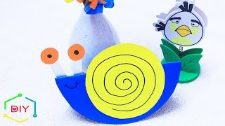 How To Make Paper Nails Step By Step/ Snail Crafts/ Diy-crafts For Kids