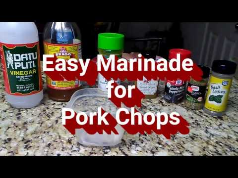 EASY MARINADE FOR PORK CHOPS