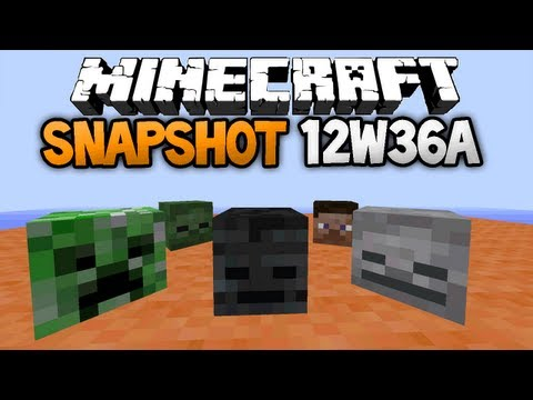 Minecraft: Snapshot 12w36a - NEW NETHER MOB, MOB HEADS & MORE!