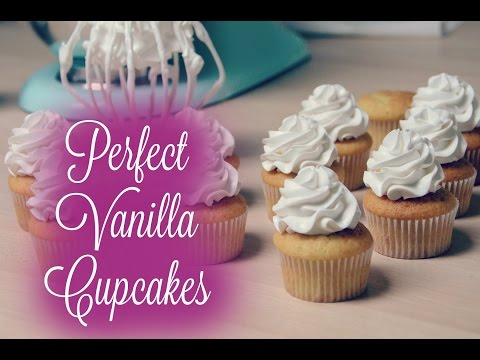 Perfect Vanilla Cupcakes with Meringue Frosting - Video Recipe