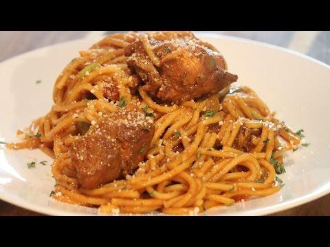 Espaguetis con Pollo Dominicano|Stewed Chicken & Spaghetti|Sabor en tu Cocina|Ep. 77