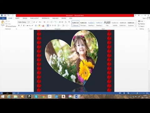 how to make greeting card in microsoft word 2013