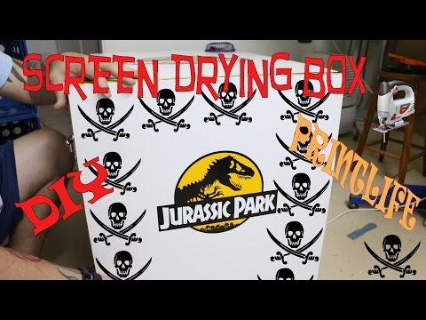Custom Screen Drying Box