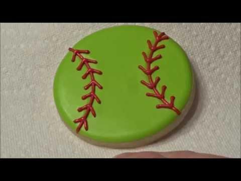 Softball / Baseball Cookies made SUPER easy!