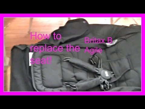 Britax B Agile stroller replacing the entire seat How to video!