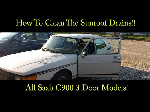 How To Clean The Sunroof Drains - Saab C900 3 Door