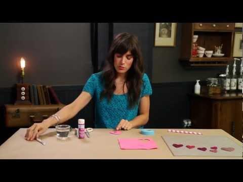 How to Make a Glitter Heart Cake Topper - DIY Weddings