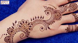 Arabic Mehndi Design for Hands | Easy Mehndi Design for Hands #121 @ jaipurthepinkcity