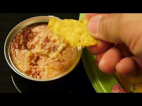 I eat Doritos Cool Ranch chips with Deviled Ham dip
