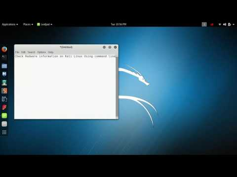 How to check Hardware Information on kali linux using command line