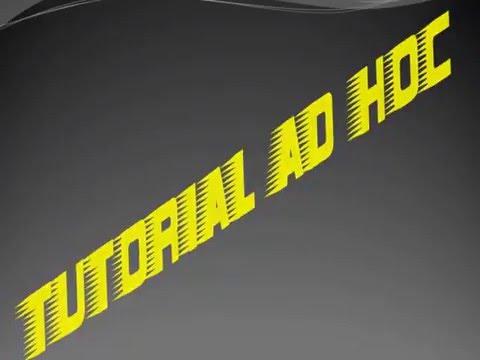 TUTORIAL WIRELESS AD HOC WINDOWS 8.1 AWAL