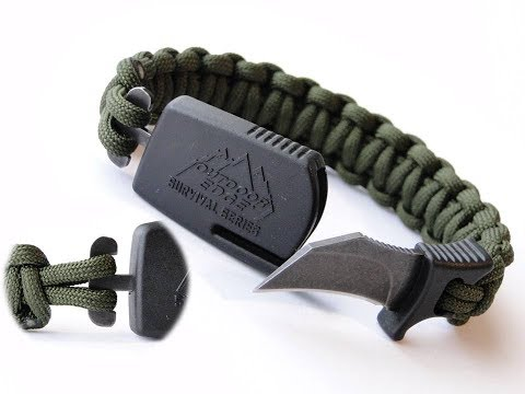 How to Make a Paraclaw Paracord Bracelet-2 Loop/4 Strand Core Cobra Weave Version
