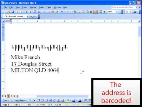 Postal Barcoding Made Easy with POSTman