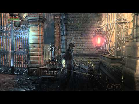 Bloodborne - Central Yharnam: 1st Light Lamp Details / Tutorial & Gilbert (NPC) Chat Sequence PS4