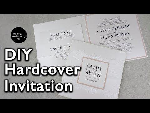 Hardcover Pocket Wedding Invitation Tutorial - DIY Wedding Invitations, Eternal stationery