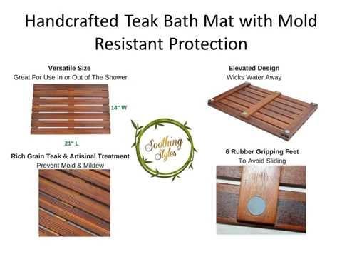 Teak Shower Mats and Floors