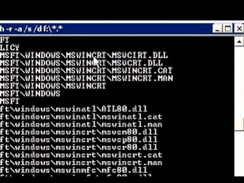 Quick way to unhide folder infected by virus.avi
