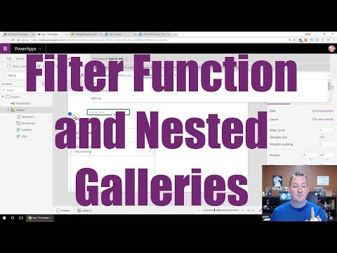 Learn to use the PowerApps Filter function
