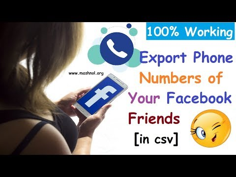 [100%Working] Extract | Export Phone Numbers of Your Facebook Friends