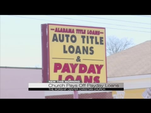 Church paying off PayDay loans