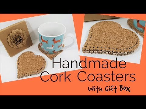 Cork Coasters with Gift Box | Video Tutorial