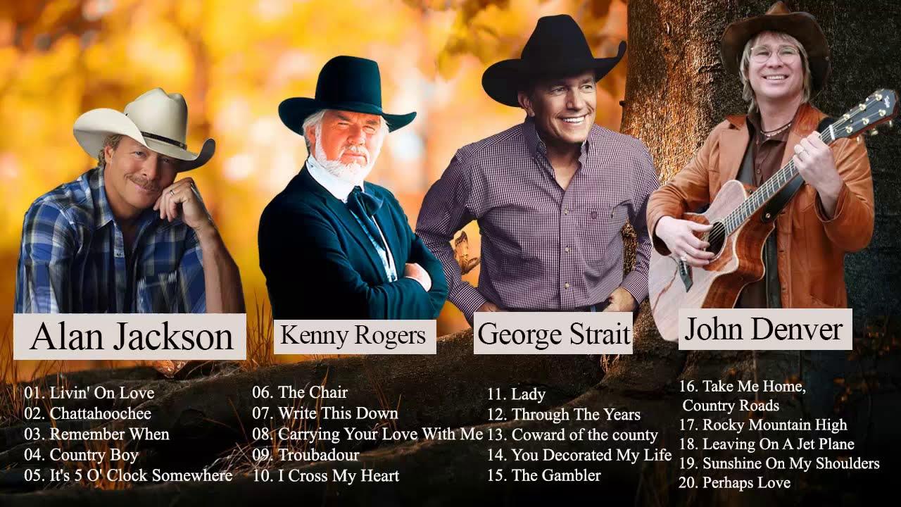John Denver, Alan Jackson, George Strait Best Of | Best Country Songs Of All Time