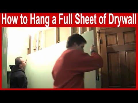 How to Hang a Full Sheet of Drywall - Large Drywall Repair