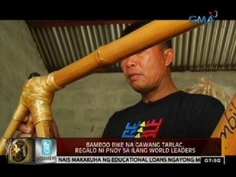 24 Oras: Bamboo bike na gawang Tarlac, regalo ni PNoy sa ilang world leaders