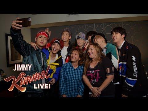 BTS Surprises Super Fans & Their Moms on Kimmel