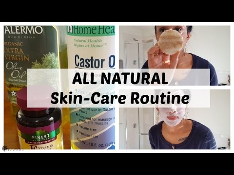 ALL NATURAL SKINCARE ROUTINE | Oil Cleansing | Castor Oil | Rosewater | DIY Facial Oil