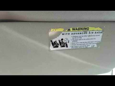 Mercedes Air bag warning sticker removing, on sun visor