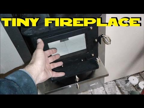 Crazy small fireplace CB-1008 CUB Cubic Mini Wood Stove