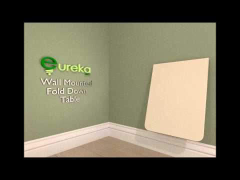 Wall Mounted Folding Table by Eureka MFG