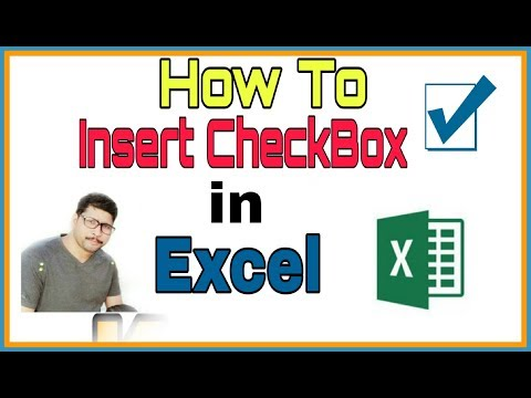 MSL023 - How to insert ChecKBox in Excel Cells