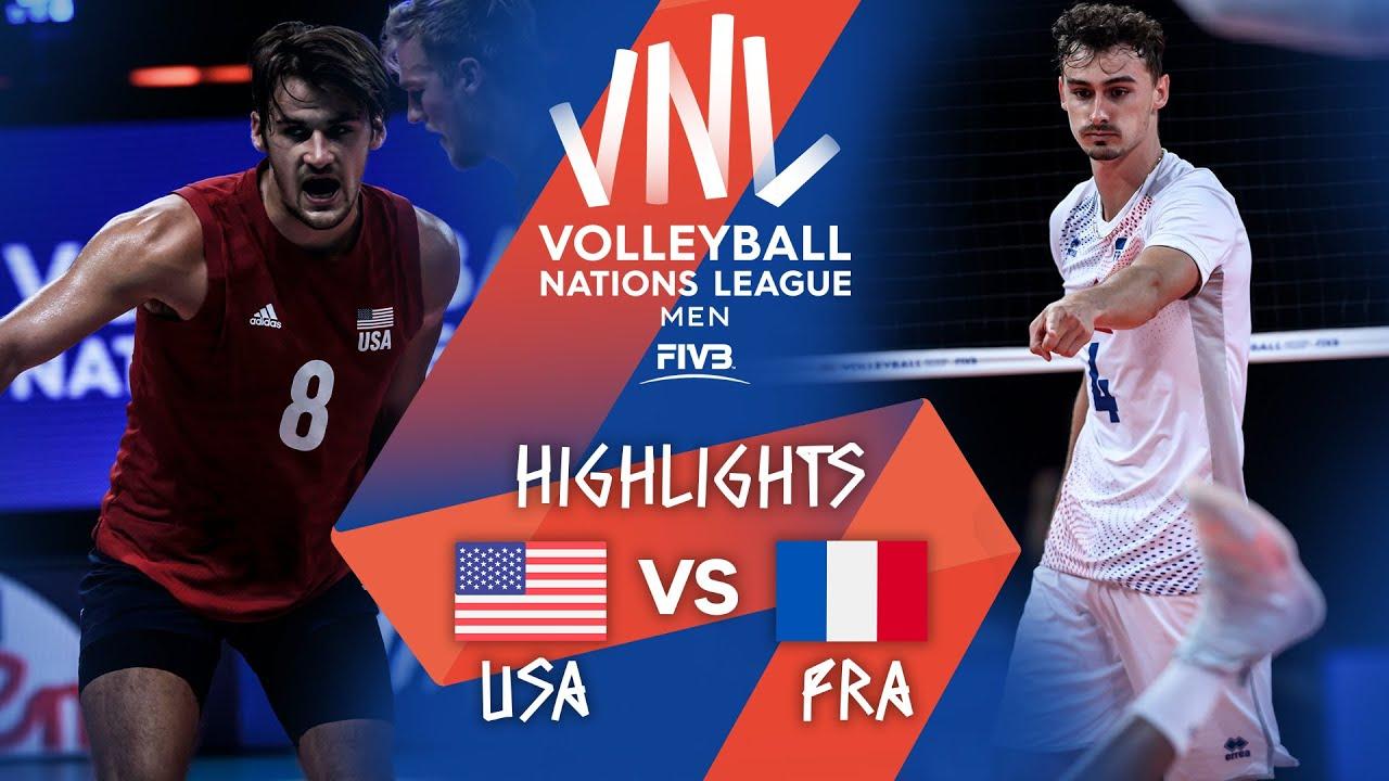 USA vs. FRA - Highlights Week 4   Men's VNL 2021