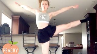 Why Dancing Inside Is BAD IDEA 😂  | Best Funny Moments and Embarrassing Videos | Peachy