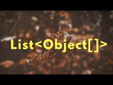 List of Object Array