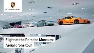 Porsche Museum: The 30,000 Horsepower Aerial Drone Tour