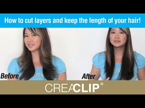 How to cut layers and keep the length of your hair! Womens Layer Cut and side BANGs