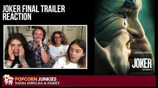 JOKER (Final Trailer) - Nadia Sawalha & The Popcorn Junkies REACTION
