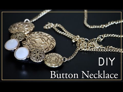 HOW TO: DIY Jewelry Button Necklace