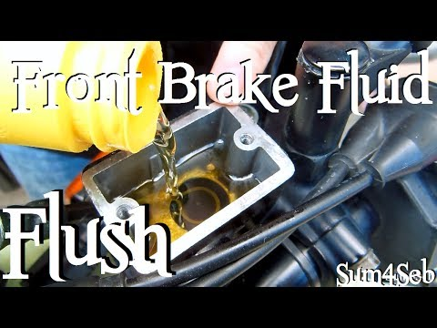How to do a front brake fluid flush / bleed |¦| Sum4Seb Motorcycle Video