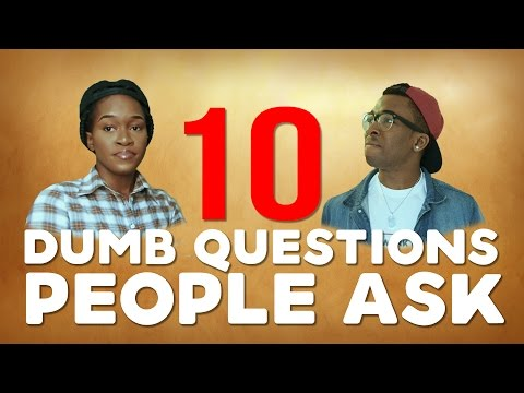 Comedy - 10 Dumb Questions People Ask Part 1 Ft Maraji [ Skit ] Cover