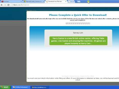Now Download microsoft office 2013 with pasword without survey and link in about